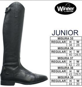 Stivale Winner Junior in pelle