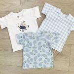 Pack 3 T-shirt Alvi azzurro