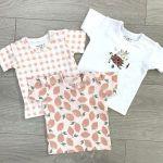 Pack 3 T-shirt Alvi rosa
