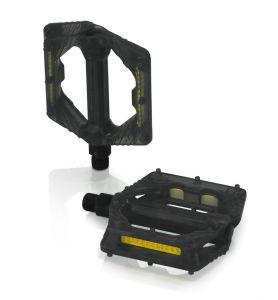 XLC Pedale con piattforma flat PD-M16 nero trasparente