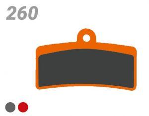 TRICKSTUFF PASTIGLIA BB 260 PER FRENI SHIMANO, TEKTRO/TRP