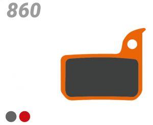 TRICKSTUFF PASTIGLIA BB 860 PER FRENI SRAM/AVID (Level/TLM, red, force, rival)
