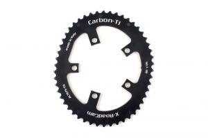 CARBON-TI CORONA ASIMMETRICA X-ROADCAM 5 FORI, BCD110 IN AL7075-T6