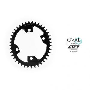 GARBARUK OVAL CHAINRING 107BCD FOR SRAM AXS ROAD/CX
