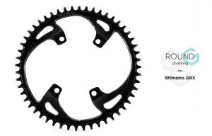 GARBARUK ROUND CHAINRING FOR SHIMANO GRX 110BCD - ROAD/CX