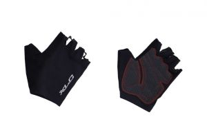 XLC SHORT GLOVES Black/Reflective