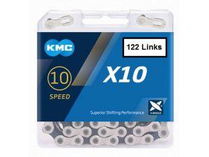 KMC  X10 BIKE CHAIN 10sp  114  links  Silver-Black