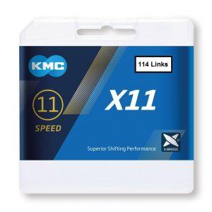 KMC  X11 BIKE CHAIN 10sp  114  links  Silver