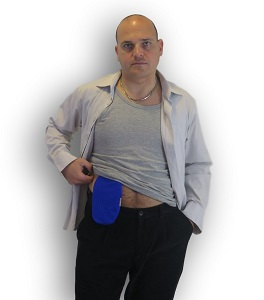 Ostomy Pouch Cover: Closed