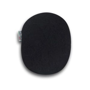 Closed Ostomy Pouch Cover: Black with Lace