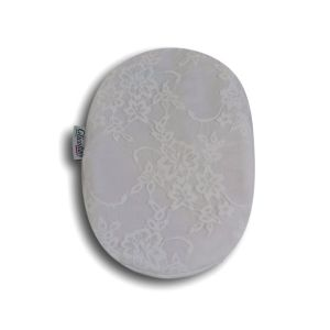 Closed Ostomy Pouch Cover: White with Lace