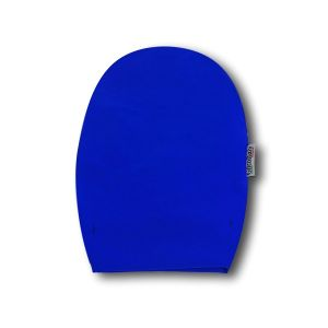 Opened Ostomy Pouch Cover: Lively Blue
