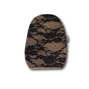 Opened Ostomy Pouch Cover: cod. 27 Beige with Lace