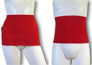 Ostomy Waist wrap - secret: cod. 06 Red