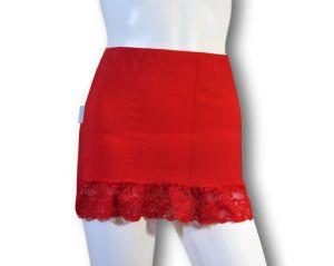 Ostomy Waist Wrap Secret: cod. 28 Red with Lace