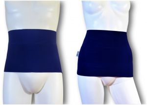 Ostomy Waist Wrap - Easy: Blue
