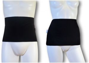 Ostomy Waist Wrap - Easy: Black