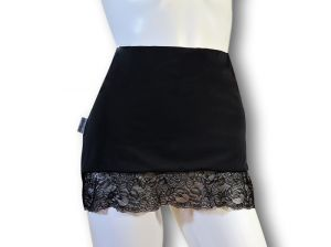 Ostomy Waist Wrap - Easy Chic: Black with Lace
