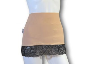 Ostomy Waist Wrap - Easy Chic: Beige with Lace