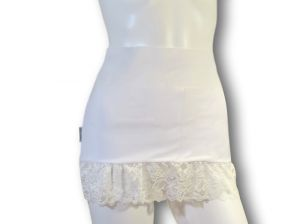 Ostomy Waist Wrap - Easy Chic: White with Lace