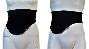 Cinturón Porta Bolsas de Ostomia: Negro