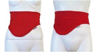 CINTURÓN-CUBRE BOLSA OSTOMIA: rojo