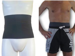 Ostomy Wrap for Swimshorts: Grey
