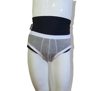 Underwear wrap for boy: Grey Slip and Black Wrap