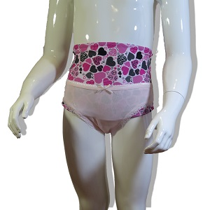 Underwear wrap for girl: Pink Slip and Heart Wrap