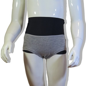 Underwear wrap for girl: Grey Underwear and Black Wrap