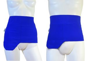 Ostomy Shape Easy Wrap: Lively Blue