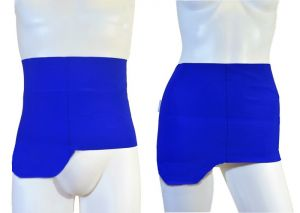 Ostomy Shape Secret Wrap: Lively Blue