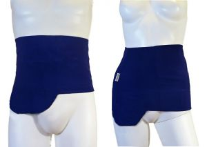 Ostomy Shape Secret Wrap: Blue