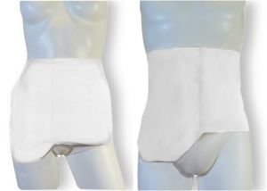 Ostomy Shape Secret Wrap: White
