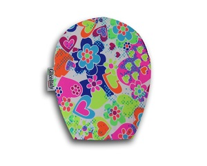 Children's Ostomy Bag Cover: Spring Hearts
