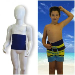 Kids's ostomy waistband: Holiday Blue