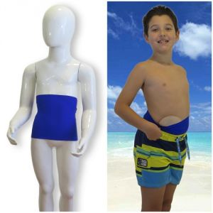 Kids's ostomy waistband: Holiday Lively Blue