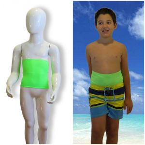 Kids's ostomy waistband: Holiday Green Fluo