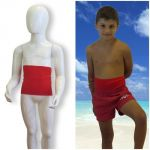 Kids's ostomy waistband: Holiday Red