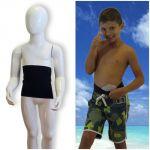 Kids's ostomy waistband: Holiday Black