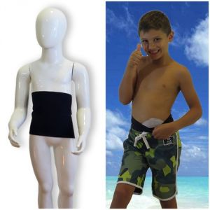Kids's ostomy waistband: Holiday Black