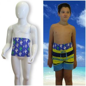 Kids's ostomy waistband: Holiday Shark