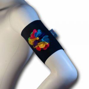 Rainbow arm band (RB BK)