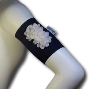 Flowers arm bands (BK WT)