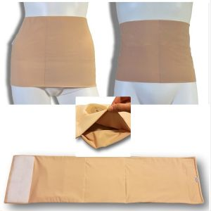 Ostomy containment wrap: beige