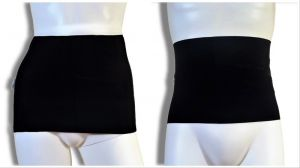 Ostomy containment wrap: Black