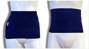 Ostomy containment wrap: blue