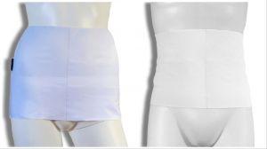 Ostomy containment wrap: White