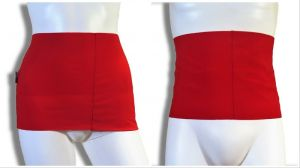 Ostomy containment wrap: red