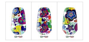 Tris Adhesive Cover G5®, G4®: Spring Hearts